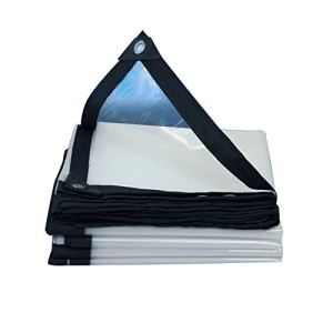 La bâche de bâches épaississent Le Tissu imperméable Transparent de Film Plastique imperméable, Taille Personnalisable (Color : Clear, Size : 4X8M)