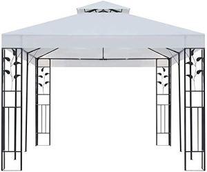 Le pavillon 3x6m blanc, pavillon de jardin, belvédère pliant fort,White