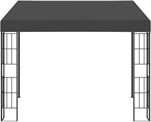 Point de jardin Pavillon de jardin Terrasse extérieure Gasting Tente Wall Happine Booth,Black-3 x 4 m