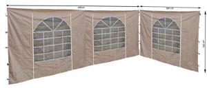 QUICK STAR 2 Panneaux latéraux avec fenêtre en PVC 300 x 193 cm/400 x 193 cm pour tonnelle Sahara 3 x 4 m Sable
