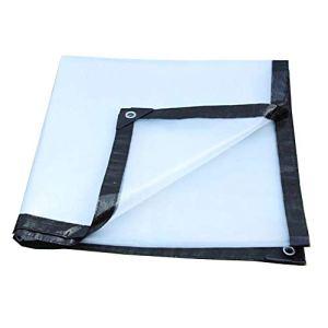 Toile imperméable de bâche épaississent Le Tissu imperméable extérieur en Plastique Transparent imperméable, Taille Personnalisable (Color : Clear, Size : 3X6M)