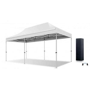 ACTIEXPRESS Tente Pliante Barnum Pliant Tonnelle Professionnelle 2×2,3X3,3×4.5,3×6,4×8 Structure en Aluminium 40mm Toit 300g/m² qualité professionelle (Blanc, 3×6)