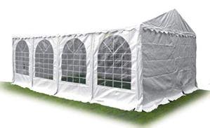 Ambisphere Tente de fête Haute qualité en PVC 550 g/m² Tente de Jardin/Tente de bière étanche résistant aux UV et Anti-feu Plusieurs Tailles Disponibles Blanc 4x8m Weiß