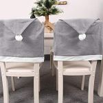 aolongwl Housse de chaise en tissu non tissé pour décoration de Noël