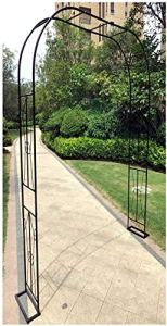 CDFCB Metal Arch De Mariage Garden Plantes Plantes de la mariée Partie de mariée Décoration Arbor Stable Arbour 120x240cm / 180x240cm Pergola Arbors-120x240cm / 4x8ft_Noir