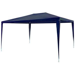 Cikonielf Tente de fête pliante 3 x 4 m avec toit résistant aux UV et cadre en acier pour jardin de mariage, tente de fête pliante Bleu 3 x 4 x 2,55 m