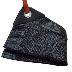DHMHJH Bâche – Filet d'ombrage Noir (Taille : 3x3m)