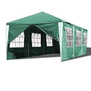 Hengda Tonnelle de Jardin Tente 3x9m Pavillon de Jardin de Tente de fête Stable étanche avec 8 Panneaux latéraux Protection UV pour Les Stands de Festival de fête