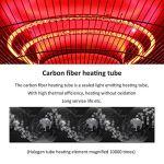 L-ELEGANT Chauffage extérieur Radiant Silencieux,Chauffage électrique de terrasse à Halogène Extérieur,Parasol Chauffant Infrarouge Radiateur de Patio Jardin-2200w 210cm