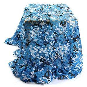 QI-CHE-YI Net de Camouflage, utilisé pour l'auvent de Jardin, la pergola extérieure, Le belvédère, Le Filet de Camouflage Bleu Marin,3x3m