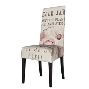Uliykon Housse de chaise de salle à manger extensible en élasthanne, amovible et lavable, pour salle à manger, cuisine, hôtel, cérémonie, fête