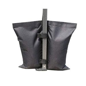 Yardwe 4 Couvert Pc Poids Sacs Sacs De Sable Jambe Poids pour Tente Auvent Soleil Abri Patio Parapluie en Plein Air Meubles Cour Noir