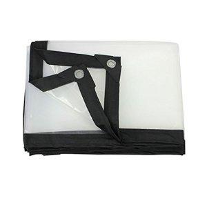 DHMHJH Bâche – bâche imperméable à l'eau Transparente, Toile Froide Isolante en Plastique de Tente d'isolation (Taille : 4x8m)