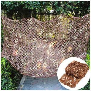Filet d'ombrage de filet de camouflage, Camouflage Net Scroque Solaire Du Désert, Camping Ahning Oxford Tapis Tente Couverture De Voiture Couverture En Extérieur Déc(Size:5x10M(16.4×32.8ft),Color:UNE)