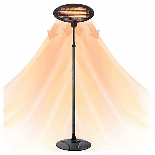 HANMIAO Parasol chauffant électrique infrarouge 2000W, Radiateur de Terrasse électrique Appareils de Chauffage Extérieur, Chauffage électrique de terrasse à Halogène pour jardins et extérieurs