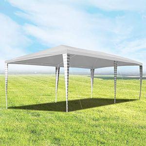 Hengda Tonnelle de Jardin 3 x 6 m Protection UV Tente de fête, chapiteau de Mariage pour extérieur, Jardin, fête
