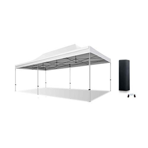 ACTIEXPRESS Tente Pliante Barnum Pliant Tonnelle Professionnelle 2×2,3X3,3×4.5,3×6,4×8 Structure en Aluminium 40mm Toit 300g/m² qualité professionelle (Blanc, 4×8)