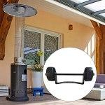 ALEOHALTER Roue de chauffage de terrasse universelle pour parasol chauffant à gaz facile à déplacer, chauffage de terrasse pour extérieur pelouse balcon