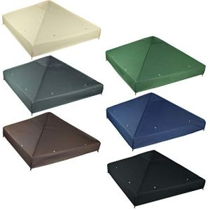 freigarten.de Toit de rechange pour tonnelle 3 x 3 m imperméable Matériau : Panama PCV Soft 370 g/m² Modèle 2 (anthracite A)