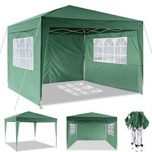 Hikole Tonnelle Pliante imperméable Tente Pliante 3x3m Tonnelle de Jardin Gazebo 3x6m Pliable Tente de Reception avec 4 côtés