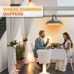 MaxxGarden Parasol Chauffant – Chauffage Infrarouge – Design Gris – 1500 W