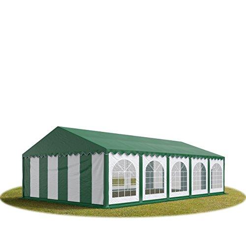 TOOLPORT Tente Barnum de Réception 5×10 m Bâches PVC env. 500g/m² Vert Cadre de Sol Jardin