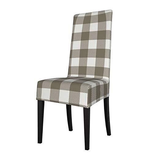 Uliykon Housse de chaise de salle à manger extensible Fossil Check Sfx Spandex élastique amovible lavable Housse de protection pour chaise de salle à manger, cuisine, hôtel, cérémonie, fête