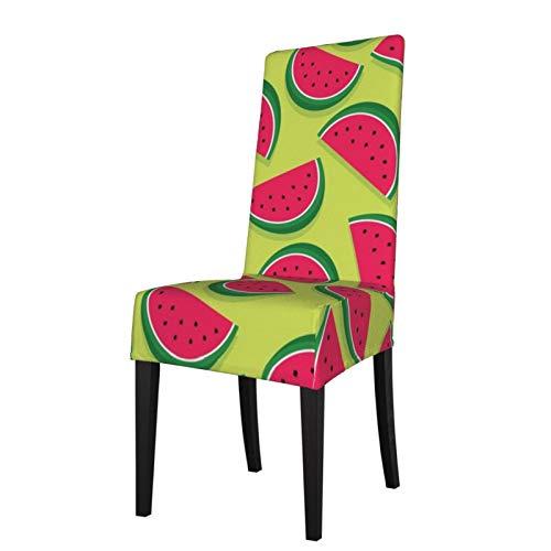 Uliykon Housse de chaise de salle à manger extensible, tranches de pastèque en élasthanne élastique amovible et lavable pour salle à manger, cuisine, hôtel, cérémonie, fête