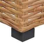 vidaXL Canapé d'angle avec Coussins Canapé de Jardin Sofa de Salon Canapé de Véranda Canapé d'Extérieur Maison Intérieur Résine Tressée
