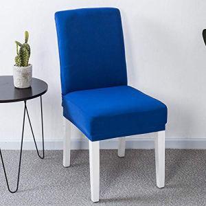 WDNEJKJH Housse de Chaise Extensible Bleu Couverture de Salle à Manger Amovible Lavable Revêtement de Chaise pour Hôtels, Fêtes, Maison, Restaurants, Cuisines(8 pièces)
