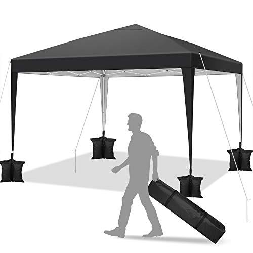 YUEBO Barnum Pliant 3×3 m Professionnel Tonnelle Pliante imperméable Tonnelle Pliable Gazebo Tente Pavillon, réglable en Hauteur