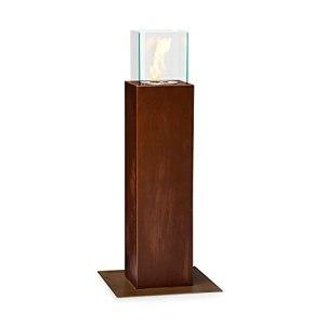 blumfeldt Arizona Rust – Braséro, Cheminée d'extérieur à l'éthanol, Ouverture du brûleur 70mm Ø, Volume Max. du brûleur 0,6 L, brûleur 10×10 cm (LxP), 20x88x20 cm (LxHxP) – Rouille