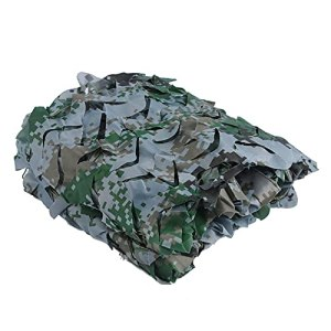 Camo Ombrage Net Filet De Camouflage Blanc,bache ombrage bache terrasse Camouflage,Convient à à la Chasse Sauvage Photographie Ombre du Soleil De Camouflage Woo(Size:3x3m/9.84×9.84FT,Color:Numérique)