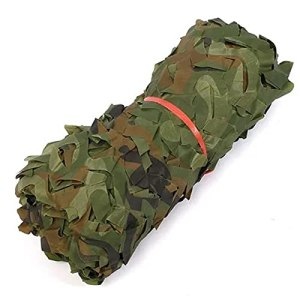 filet camouflage vehicule Réseau de Militaires Poids léger Durable,filet pour pergola Jungle Crème Solaire, pour Chasse d'ombrage Déco Camping Accessoires de Camouf(Size:1.5x20M=5×65.6FT,Color:Jungle)