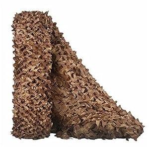 Filet Camouflage vehicule Réseau de Militaires Poids léger Durable,Filet pour pergola Jungle Crème Solaire, pour Chasse d'ombrage Déco Camping Accessoires de Cam(Size:1.5x2M=5×6.6FT,Color:désert)