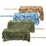 Filet De Protection Solaire Léger filet militaire camouflage,bache exterieur camouflage tente voiture,pour desert decoration masque de camouflage filet brise vent v(Size:3x4m/9.84×13.12FT,Color:océan)