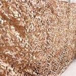 Filet De Protection Solaire Léger,parasols et stores pour patio parasol voiture tente affut,pour chasseur accessoire materiel militaire Maille Filet pour Camou(Size:3x6m/9.84×19.68FT,Color:désert)