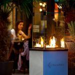 KRATKI Cheminée à gaz Patio Mini – 4-8,2 kW – 1366 x 427 mm – Acier – Cheminée de jardin avec commande manuelle – Gaz liquide – Cheminée à gaz pour terrasse, jardin