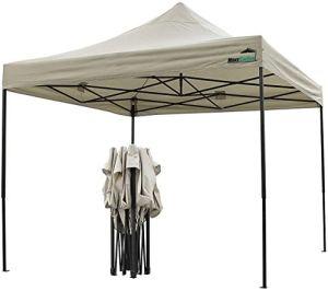 MaxxGarden Tente de réception Pliante 3×3 – à Utiliser comme pavillon, pergola, Tente de Jardin, chapiteau tonnelle – Anthracite (Beige)