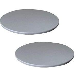 Nappe Ronde TYXL, Housse de Table en Nappe élastique Ronde antidérapante imperméable pour la Cuisine de la Salle à Manger et Le Pique-Nique (130 cm, Gris)