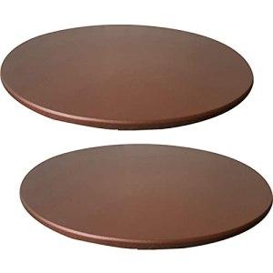 Nappe Ronde TYXL, Housse de Table en Nappe élastique Ronde antidérapante imperméable pour la Cuisine de la Salle à Manger et Le Pique-Nique (130 cm, Marron)