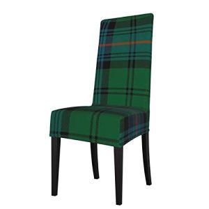 Uliykon Housse de chaise de salle à manger extensible, motif tartan écossais, élasthanne, élastique, amovible et lavable pour salle à manger, cuisine, hôtel, cérémonie, fête