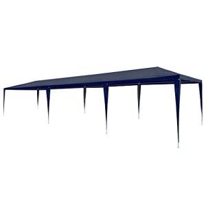 vidaXL Tente de Réception 3×9 m PE Bleu Tonnelle Pavillon Chapiteau de Jardin