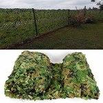 YiDD Filet de décoration Filet Camouflage 2x3m 2x4m 2x5m 2x6m 3x3m 3x4m 3x5m 3x6m 5x5m 5x6m 6x6m 6x8m 8x8m 8x10m 10x10m Housses de Voiture Léger Durable Partie de tir en Plein air
