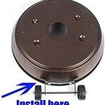 JUNC Kit de roue mobile universelle de rechange pour parasol chauffant à gaz (facile à déplacer/installer)