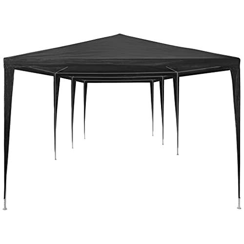 Ksodgun Tente de Réception 3×9 m PE Anthracite Jardin Terrasse Tonelle Pavillon