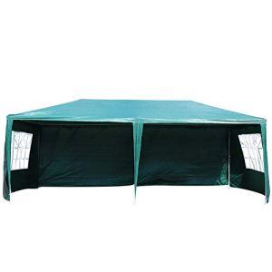 Tente d'événement 3X6m Patio extérieur Gazebo Auvent de Mariage Vert Protection UV Tente de fête avec Sac de Transport