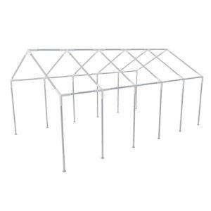 Tidyard Armature en Acier pour Tonnelle de Jardin Résistant à la Rouille 10 x 5 m
