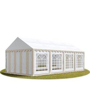 TOOLPORT 4×8 m Tente de réception/Barnum Beige-Blanc Toile de Haute qualité env. 500g/m² PVC