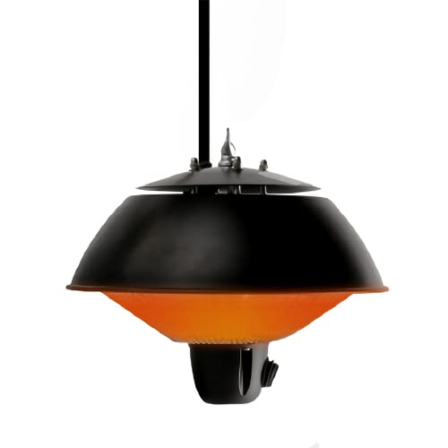 VIY Parasol Chauffant de Plafond Suspendu Infrarouge Chauffage électrique de terrasse à Halogène 600W IP34 Radiateur Jardin/Patio/TenteIntérieur